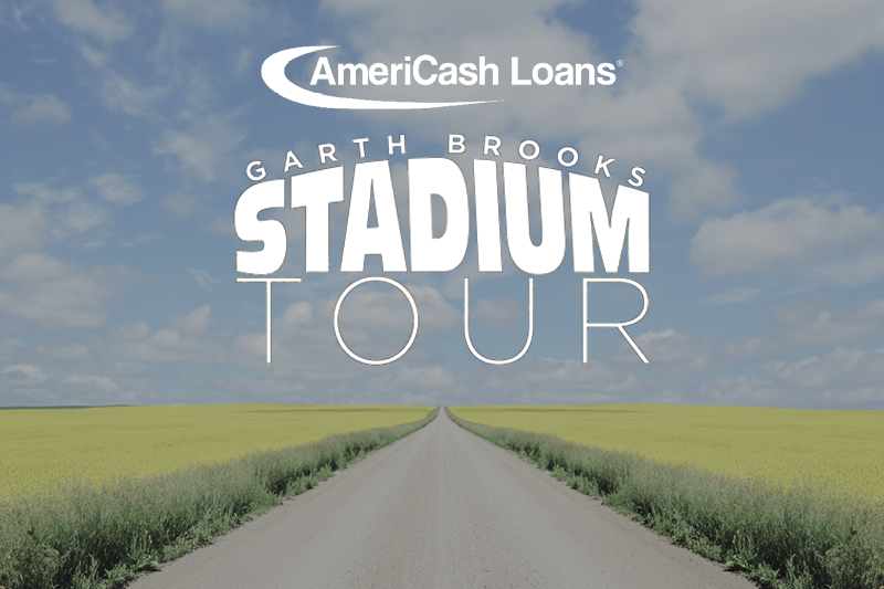 AmeriCash Loans and B-104 celebrate the grand opening of our New Bloomington Location With Garth Brooks tickets!